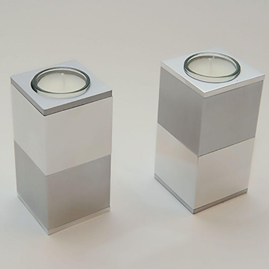 Moderne waxinelichthouder mini urn metaal Iverso 120mm 2557