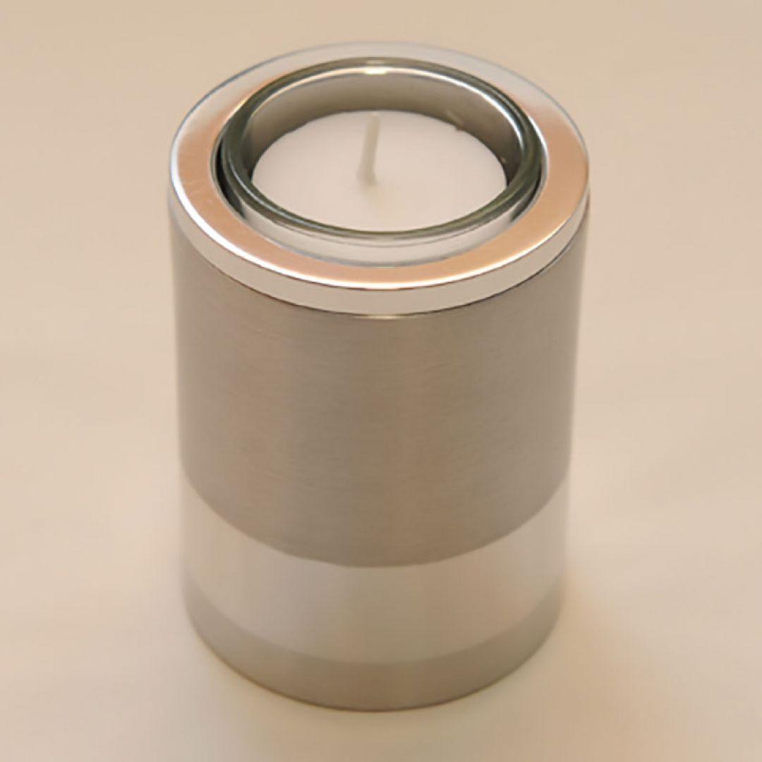 Moderne waxinelichthouder mini urn Raya rond 85mm 2565
