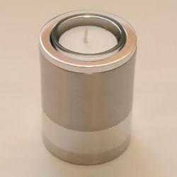 Moderne waxinelichthouder mini urn Raya rond 85mm 2565}