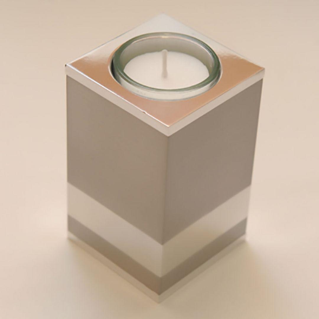Moderne waxinelichthouder mini urn Raya vierkant 100mm 2566