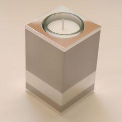 Moderne waxinelichthouder mini urn Raya vierkant 100mm 2566}