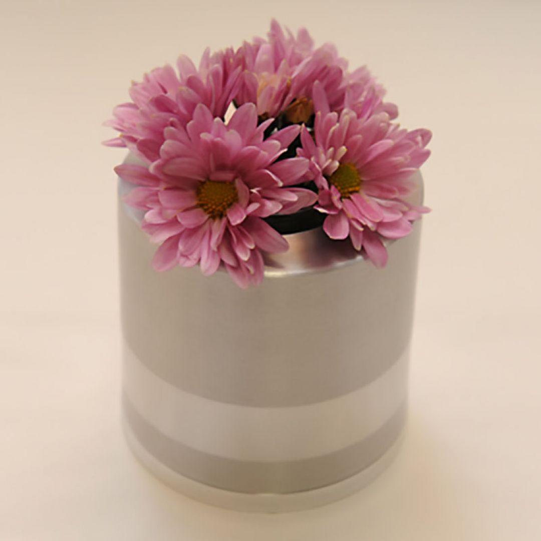 Bloemenvaasje mini urn met los kaarsje 85mm 2567