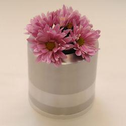 Bloemenvaasje mini urn met los kaarsje 85mm 2567}