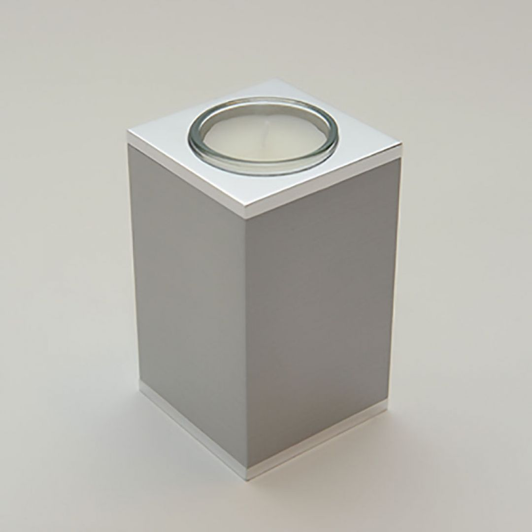 Waxinelichthouder metalen mini urn modern Quardo, 100mm 2569