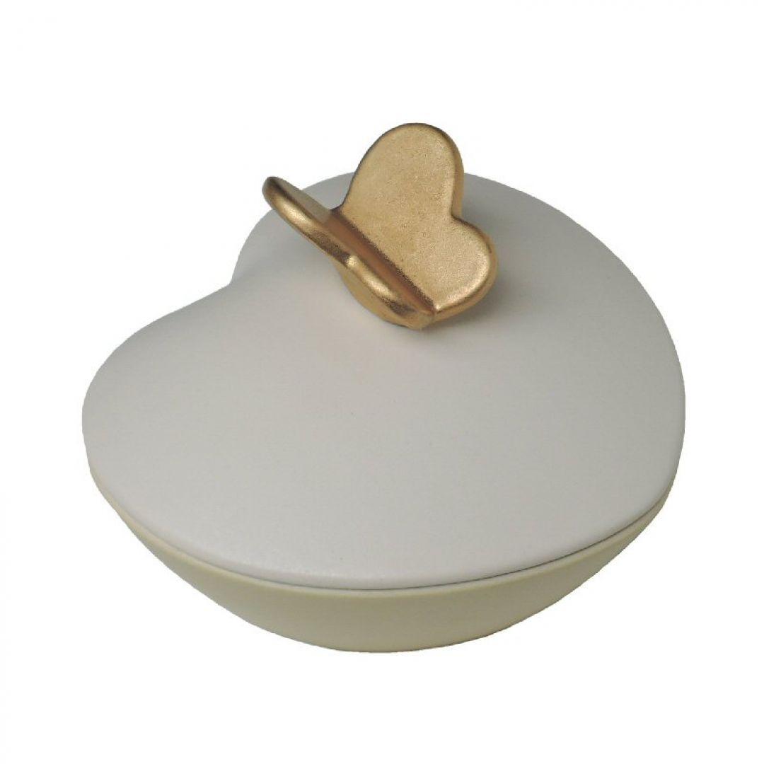 Mini urn hartje met vlinder pr002 0,60l