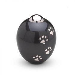 Messing mini urn hondenpoot zwart modern AD101S}