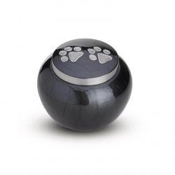Messing mini urn hondenpoot grijs modern AU101S}