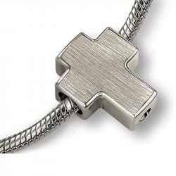 Asbedel zilver modern kruis MB006}