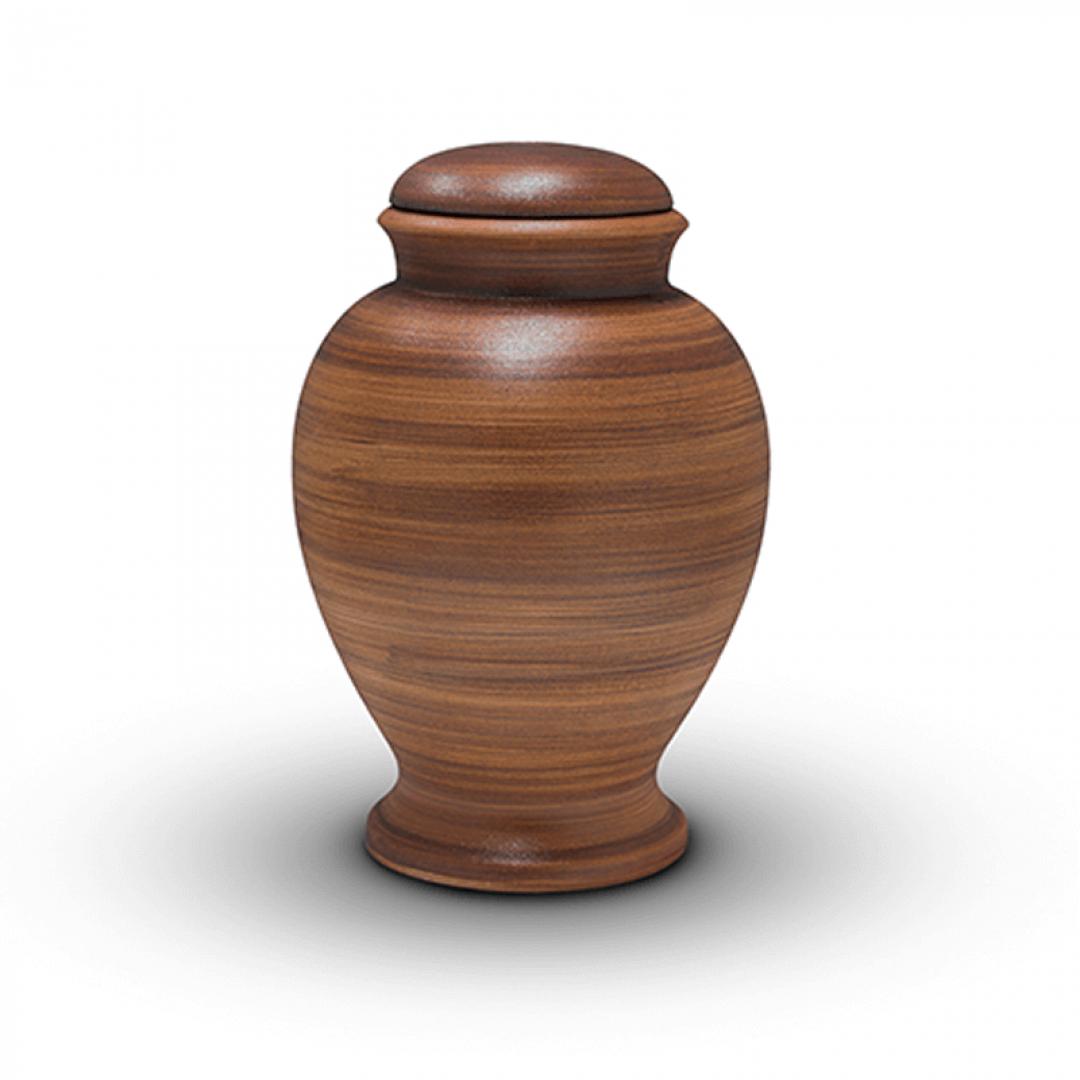 Bio urn klei bruin BU314