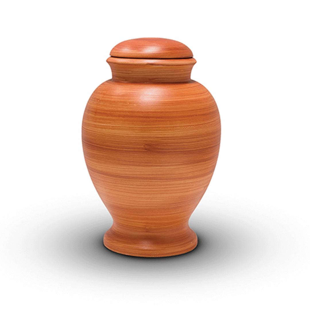 Bio urn klei houtkleurig BU313