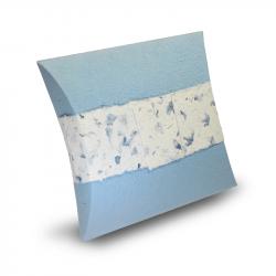 Bio urn papier blauw oplosbaar in water ZU002}