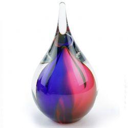 Mini urn glas Druppel small in verschillende kleurcombinaties U01}