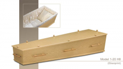 Eiken printfolie kist met houten grepen 1-20H8}