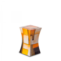Glasfiber mini urn modern geel GFU222S}