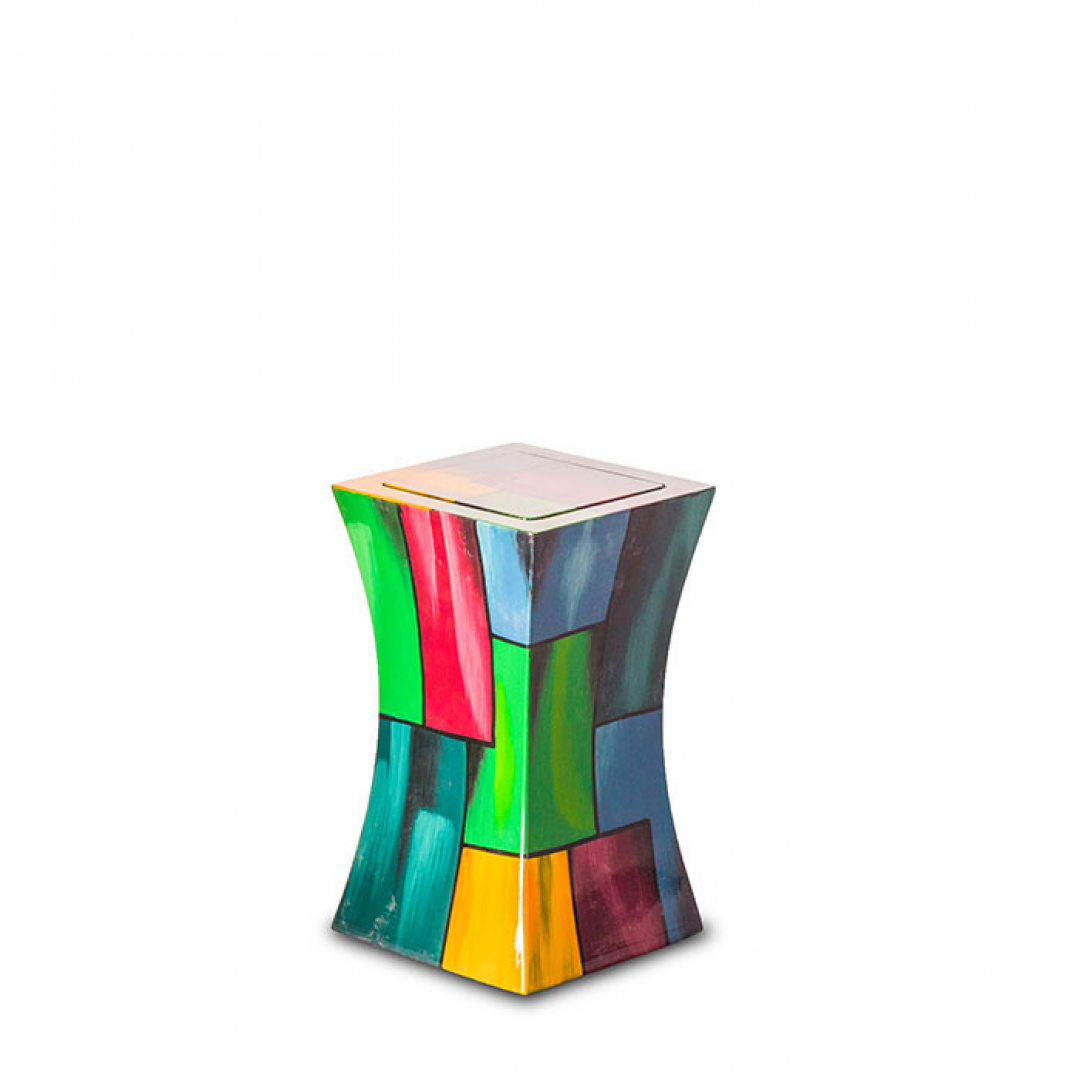 Glasfiber urn modern kleurrijk GFU212S