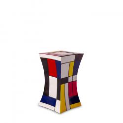 Glasfiber mini urn modern mondriaan GFU223S}