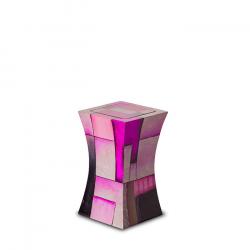 Glasfiber mini urn modern roze GFU221S}
