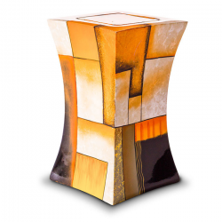 Glasfiber urn modern geel GFU222}
