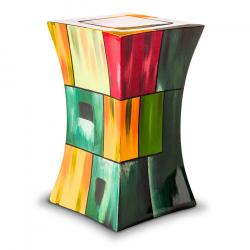 Glasfiber urn modern kleurrijk GFU212}