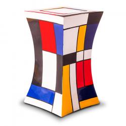 Glasfiber urn modern mondriaan GFU223}