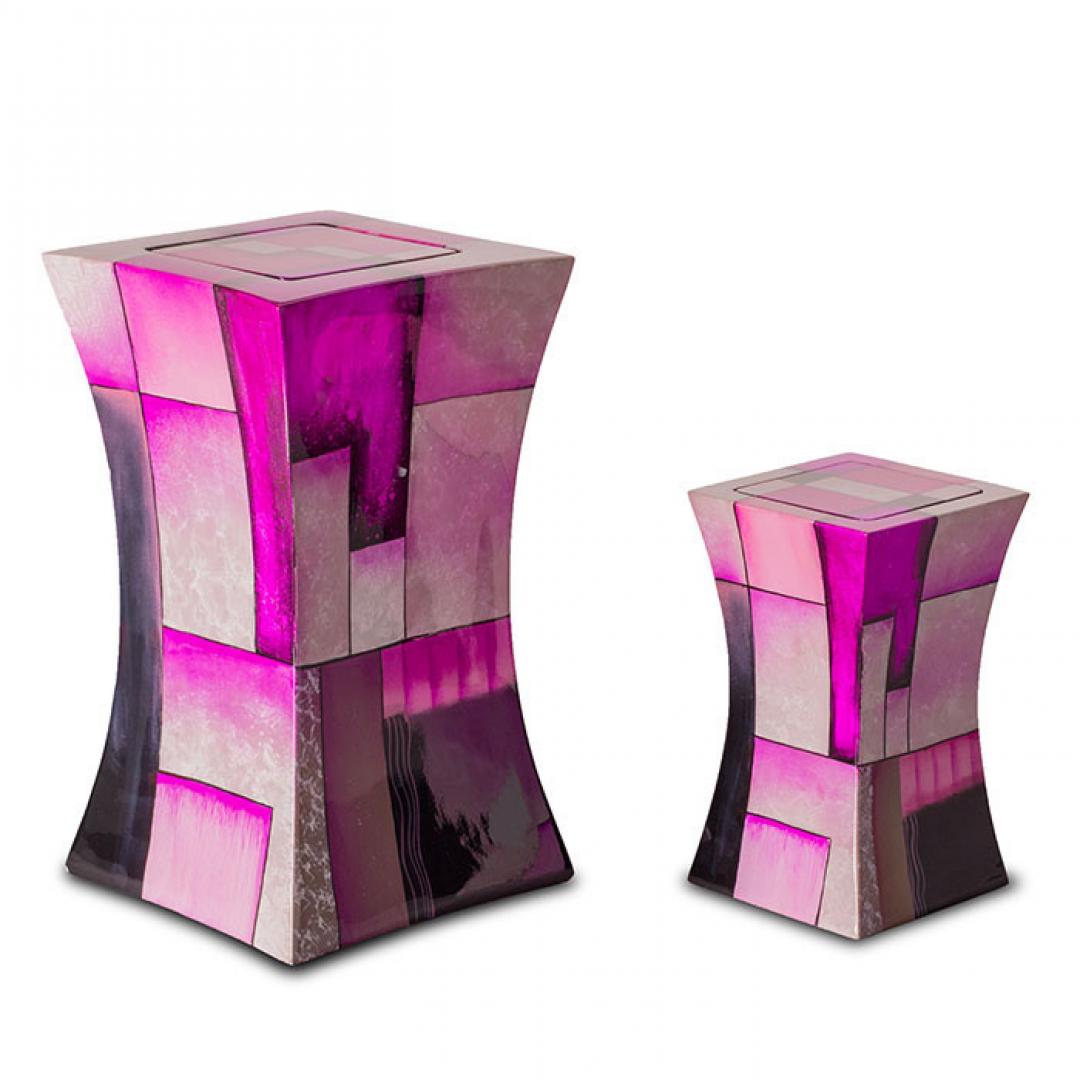 Glasfiber mini urn modern roze GFU221S