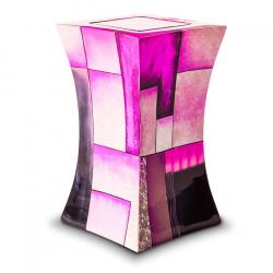 Glasfiber urn modern roze GFU221}
