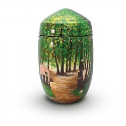 Glasfiber urn rond bos GFU213}