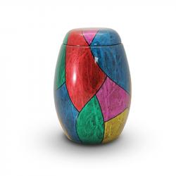 Glasfiber urn rond kleurrijk GFU210}
