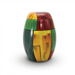 Glasfiber urn rond kleurrijk GFU211}