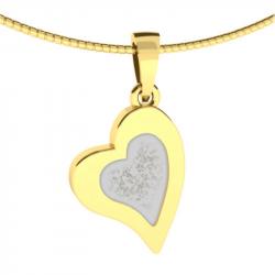 Gouden gedenkhanger hart voor as of haar 9120G}