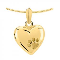 Gouden hart ashanger met pootafdruk 2040G}