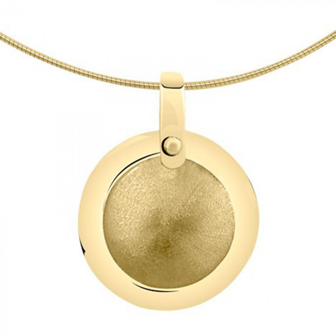 Gouden medaillon rond 8112G
