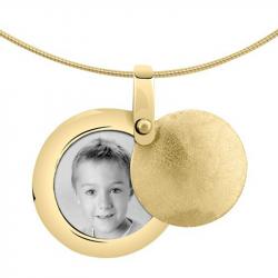 Gouden medaillon rond 8112G}