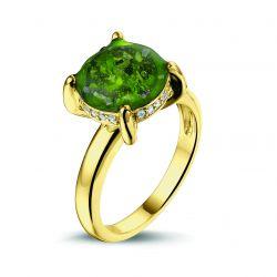 Gouden damesring met diamant, RY003}