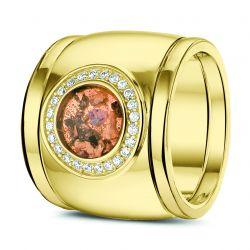 Gouden damesring met diamant en aanschuifringen RY007+RY005}
