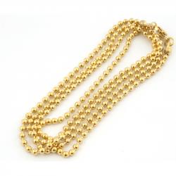 Goudkleurige RVS ball chain ketting - HIG BCKG}