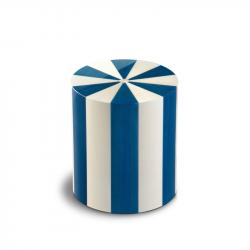 Houten cilinder medium urn blauw en wit Blu Columbarium Pisa Blue URCOP10L 6 Liter}