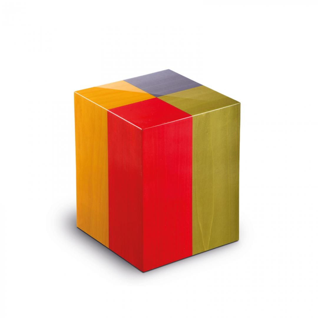 Houten medium urn in 4 kleuren Columbarium Arlecchino UR-C-AR-01L 6 Liter