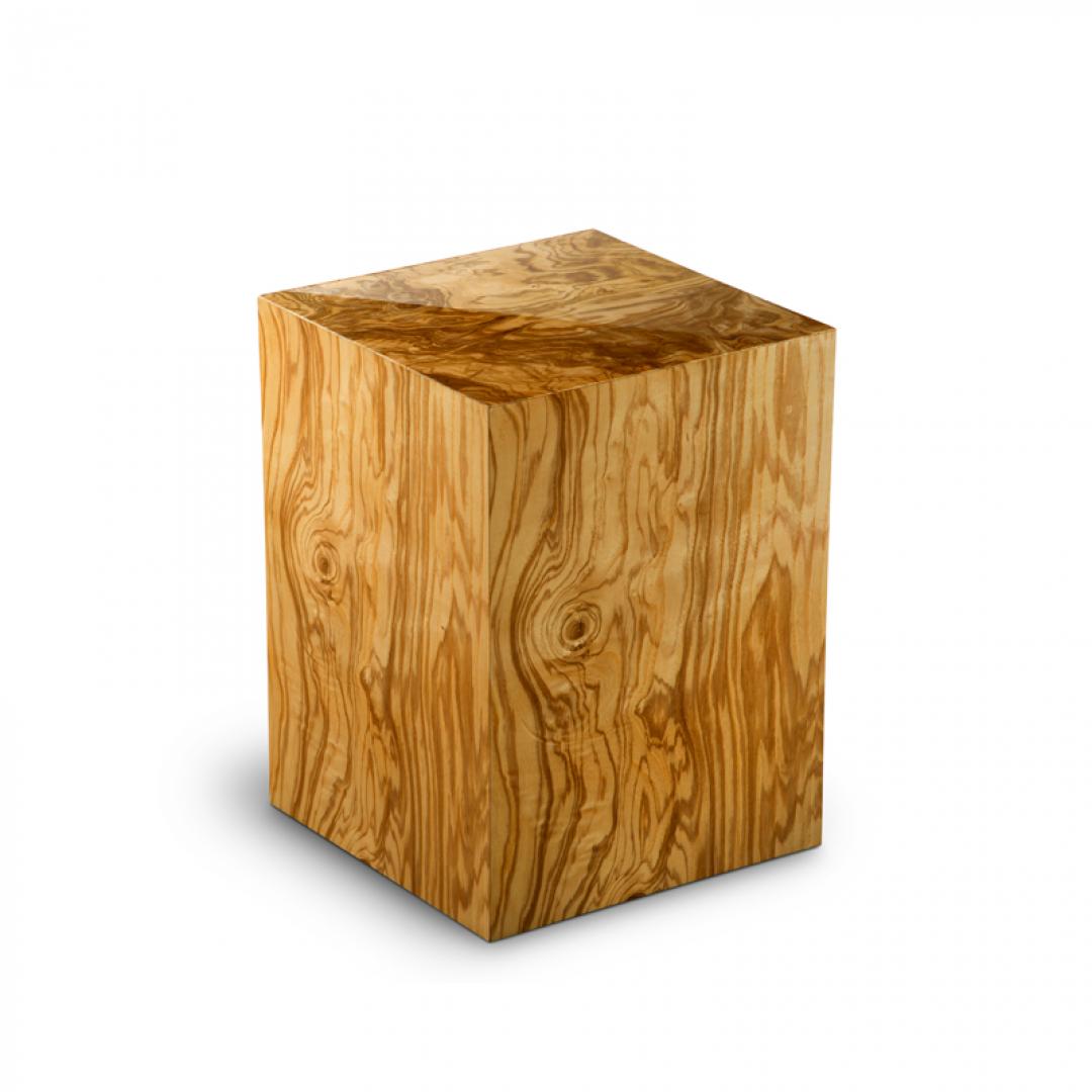 Houten medium urn olijfhout Olivo poro lucido UR-C-ES-02L 6 Liter