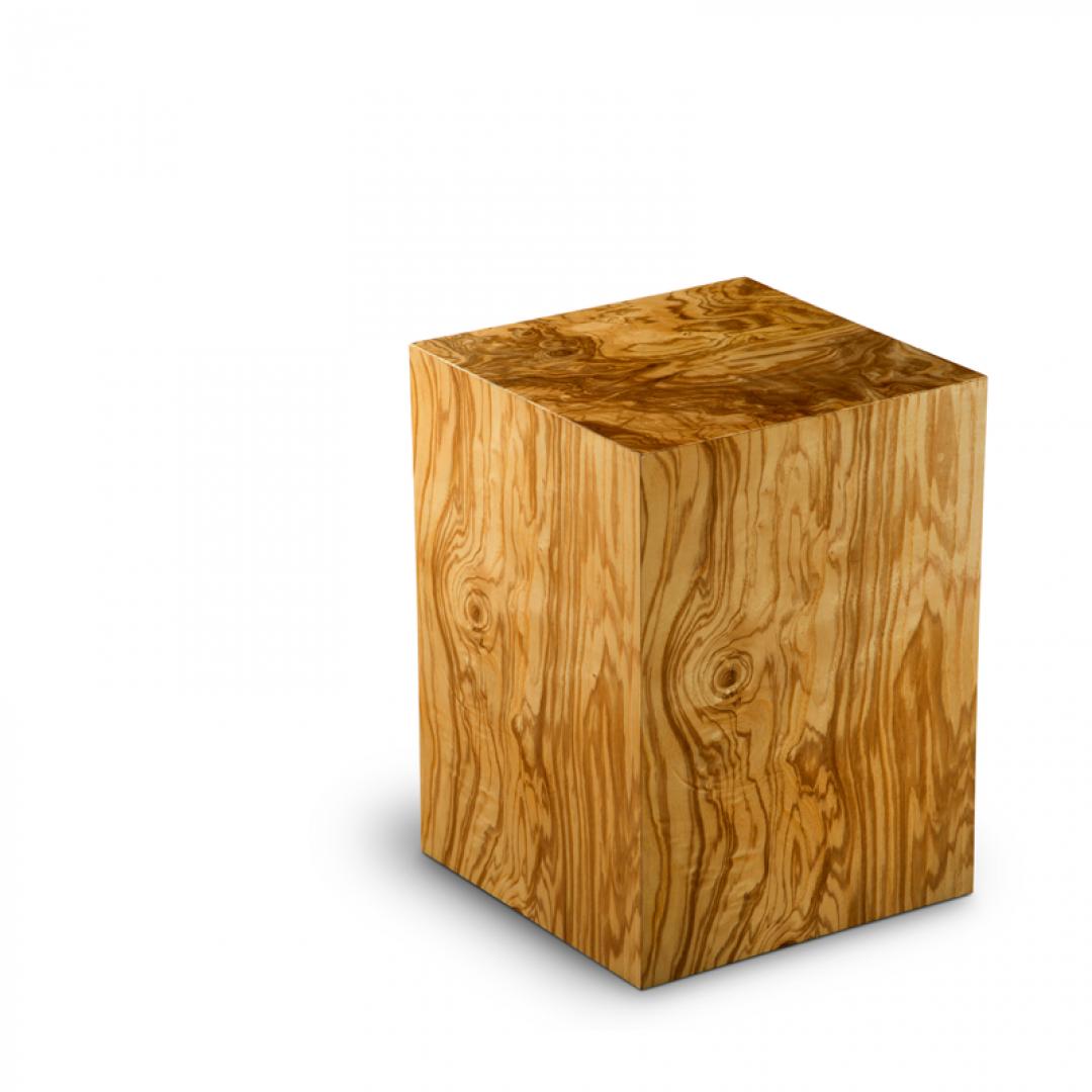 Houten medium urn ongepolijst olijfhout Olivo poro aperto UR-C-ES-02P 6 Liter