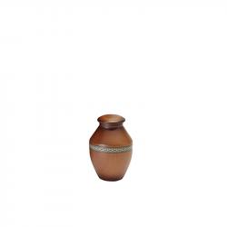 Houten mini urn rond kersen WU104}