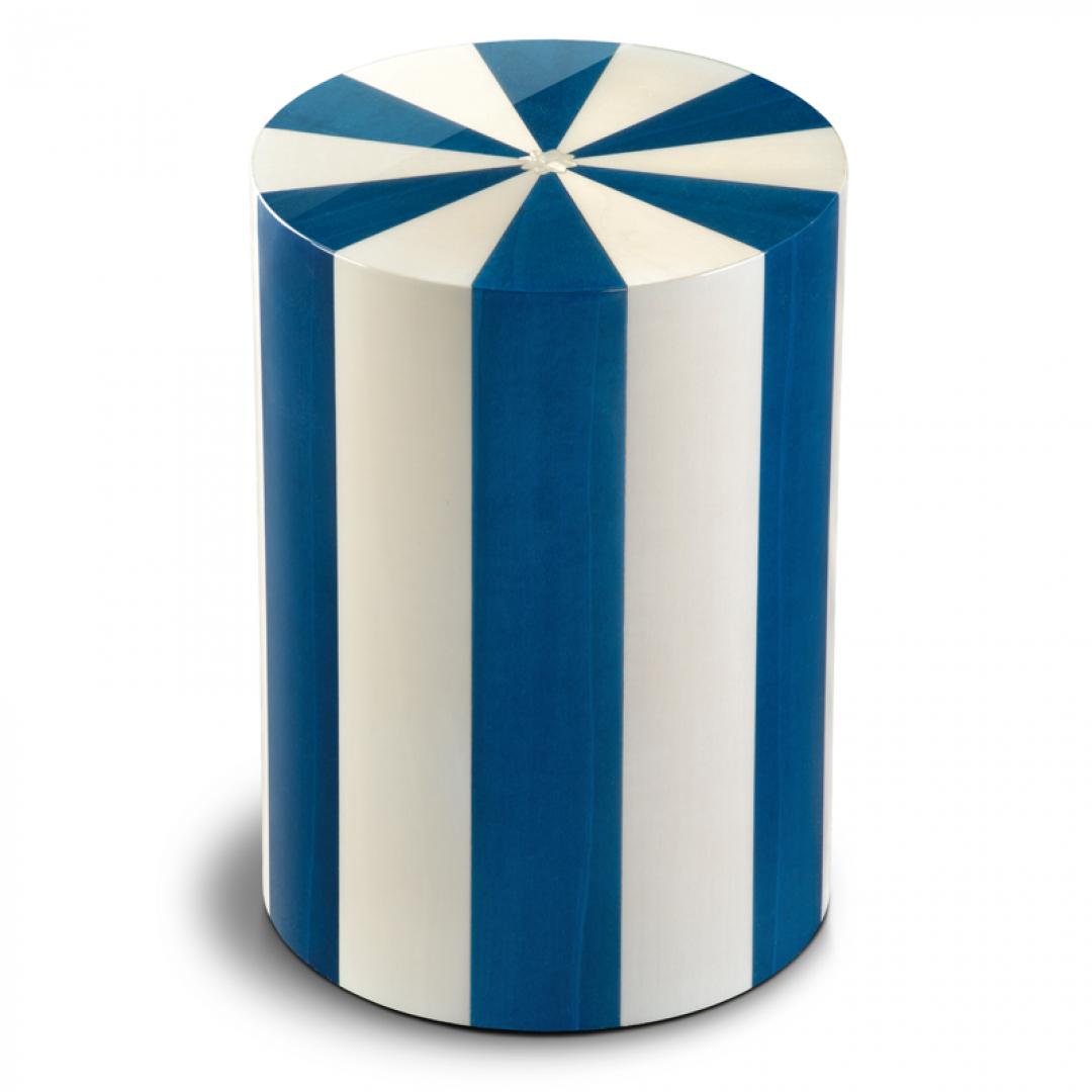 Houten cilinder urn blauw en wit Blu UR-P-XX-10L 7 Liter