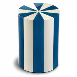 Houten cilinder urn blauw en wit Blu UR-P-XX-10L 7 Liter}