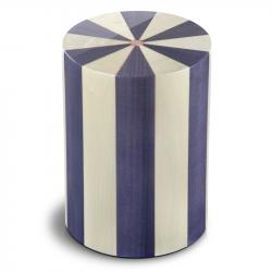 Houten cilinder urn blauw en ivoor Viola UR-P-XX-07L 7 Liter}