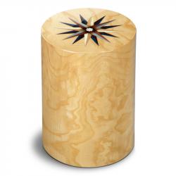 Houten cilinder urn pisa rv mirte windroos UR-P-XX-53L 7 L}
