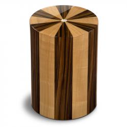 Houten cilinder urn walnotenhout en palissanderhout Pisa Noce Palisandro UR-P-XX-03L 7 L}