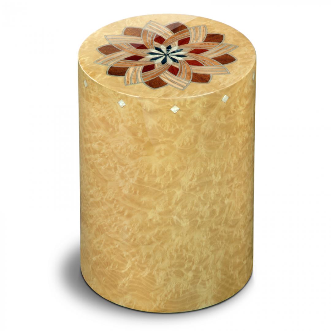 Houten cilinder urn licht Columbarium Girandola Madrona UR-CO-P-50L 6 Liter