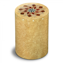 Houten cilinder urn licht Columbarium Girandola Madrona UR-CO-P-50L 6 Liter}
