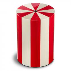 Houten cilinder urn rood en wit Pisa Rosso UR-P-XX-08L 7 L}
