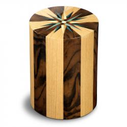 Houten cilinder urn walnotenhout en eikenhout Columbarium RV Noce Rovero UR-CO-P-05L 6 Liter}